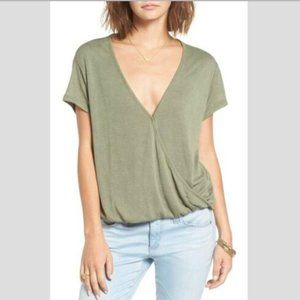FREE PEOPLE WE THE FREE Hoffman Tee in Army - XS,L